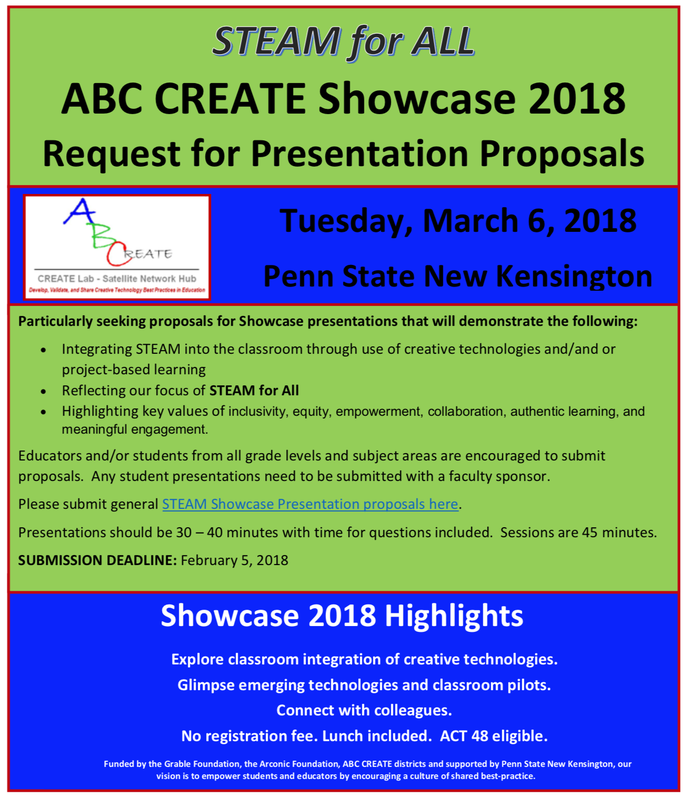 STEAM for ALL SHOWCASE RFP - ABC CREATE